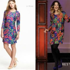 J. Crew Floral Multi color Shift dress w/ Pockets